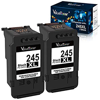 Valuetoner Remanufactured Ink Cartridge Replacement for Canon 245XL PG-245XL PG245XL PG-243 for PIXMA MX492 MX490 MG3022 MG2522 MG2920 MG2420 MG2520 MG2922 MG2924 MG3029 iP2820 Printer  Black 2 Pack