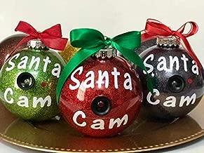 MCA Creations Santa Cam Glitter Ornament (Red)
