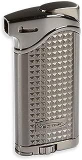 Vector Maximus 45 Soft Flame Pipe Lighter w/Tamper Tool (Gunmetal Satin)