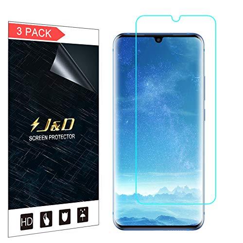 J&D Kompatibel für ZTE Axon 10 Pro 5G Schutzfolie, 3-Pack [Nicht Ganze Deckung] Premium HD-Clear Displayschutzfolie für ZTE Axon 10 Pro 5G Displayschutz