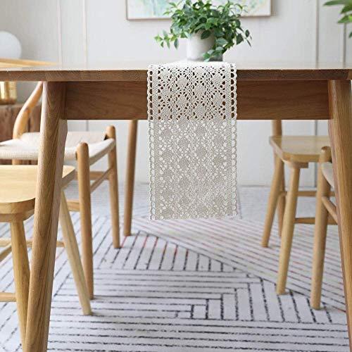 AQWESD Off-White Lace Quasten häkeln Tischläufer Tischdecke Home Dekoration-künstlerische Dekor Dining Tischläufer Tischwäsche Holiday Party Geschenk