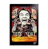 Arnold Schwarzenegger de la pelicula Total Recall (Desafío Total) - Pintura Enmarcado Original, Imagen Pop-Art, Impresión Póster, Impresion en Lienzo, Cuadro, Cartel de la Película, Ciencia Ficción
