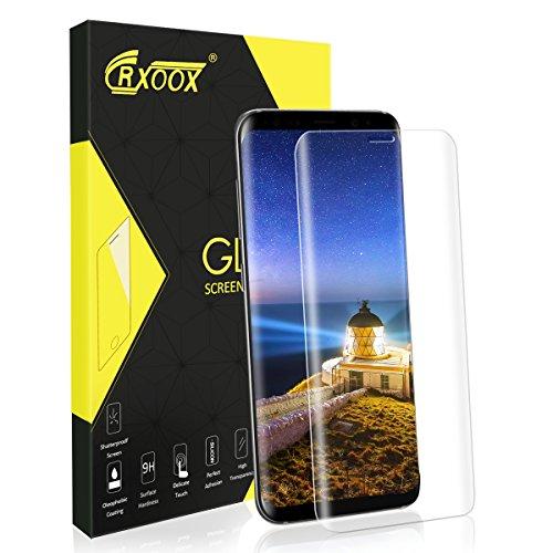 CRXOOX Pellicole Protettive per Samsung Galaxy S8,Alta trasparent Vetro Temperato,9H Durezza,Nessuna Bolla,Anti-Impronte,Antigraffi,Facile Installazione