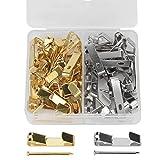 Drado 40 ganci dorati con 40 chiodi per appendere cornici foto piccoli oggetti decorazione della casa