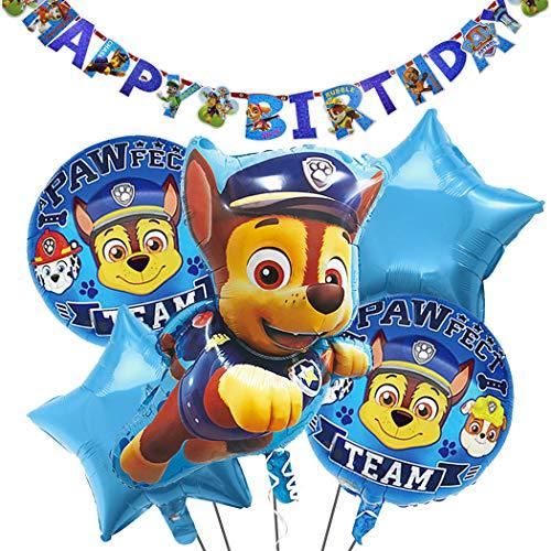 Globos Patrulla Canina Cumpleaños Paw Dog Patrol Balloons for Kids Guirnaldas Paw Dog Patrol Pancartas Paw Dog Patrol Birthday Party Balloons Gift Fiesta de Cumpleaños Suministros Decoración