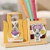 Portapenne in resina Combinazione del cornice Combinazione del fumetto Bear Wood Desktop Ornaments Timer Classificatore Dono dello studente creativo (Size : Purple)