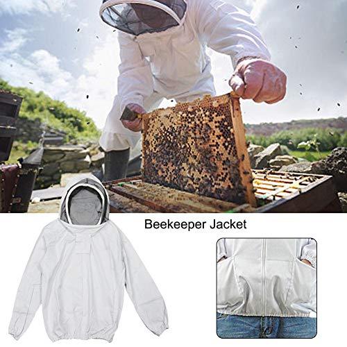 Lucky-all star Imkerjacke mit selbsttragendem Schleier - Imker-Kapuzenjacke, Bienenzucht-Schutzkleidung mit Schleier, für die Imkerei im Garten