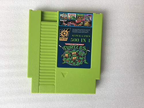 500 in 1 NES Game Cartridge Video Game Multi 72 pin 8 bit Super Games Turtles NES Super Games Multi Cart 72 Pin Green Game Cartridge