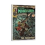 Leinwandbild Star Wars Geschenk Poster The Mandalorian