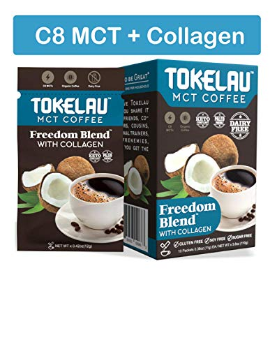 Tokelau Keto Coffee Packets with Collagen and C8 MCT Oil Powder. Organic Ketogenic Coffee In Seconds. Burn Fat for Fuel with our Keto Coffee. It Works to Get You Into Ketosis Fast. 100% Dairy Free.