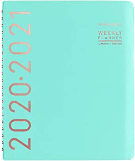 """Academic Planner 2020-2021, AT-A-GLANCE Weekly & Monthly Planner, 8-1/4"""" x 11"""", Large, Contempo, Teal (70957X42)"""
