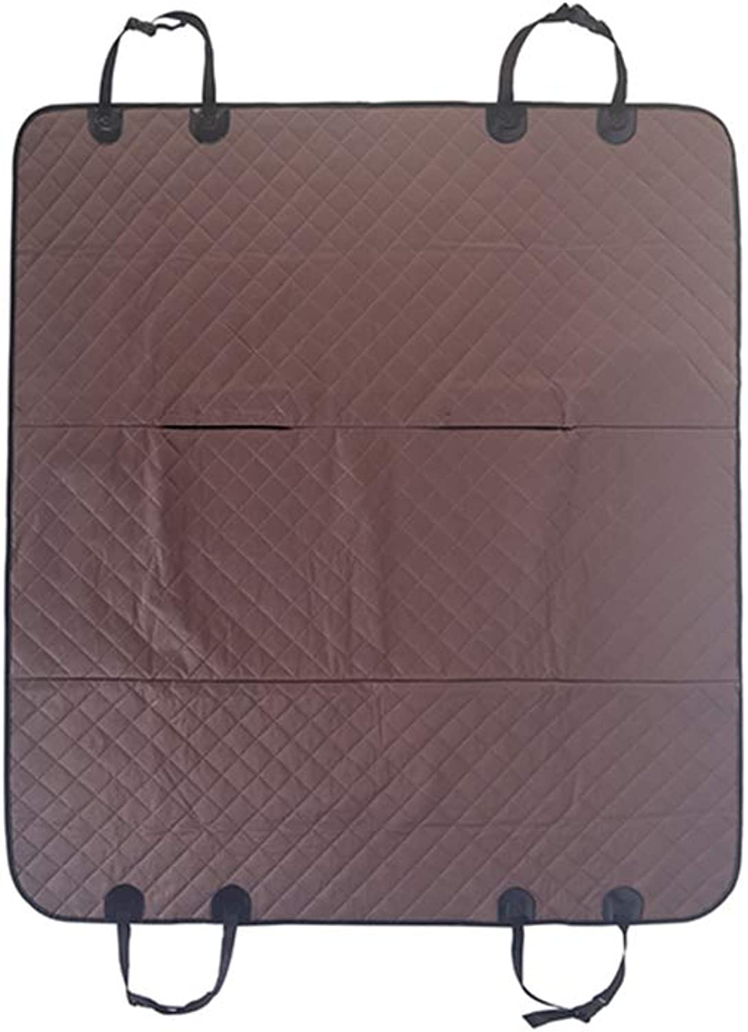 ALXDR Pet Dog Car Seat Covers for Back Seat, Nonslip Waterproof Dog Car Predector Mat Cover Oxford Cloth Antidirty Antiscratch Dog Mat Universal for Car and SUV Trucks,Brown