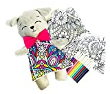 Altus Puppy Plush Interactive Toy with Three Washable Coloring Dresses and Markers, Gift for Girls 2-12 Years Old, Boost Your Children's Creativity and Imagination with This Drawing Craft Doll
