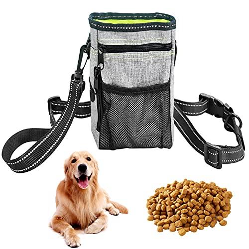 Bolsa Premios Perro Resistente al Agua,Bolsas de Golosinas para Perros,Bolso Merienda Perro,Bolsa de Cintura Mascota Perro,Bolsa de Comida para Perros,Bolsa para Golosinas para Mascota (verde)