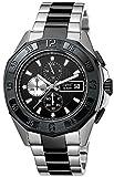 Esprit ES102841005 - Reloj analógico de Cuarzo para Hombre con Correa de Acero Inoxidable, Color Negro