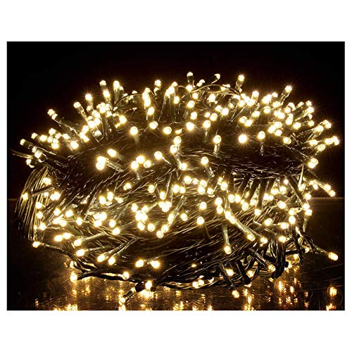 OZS-115Ft 300LED Super Bright Christmas String Lights Indoor/Outdoor, Waterproof 8 Modes (UL Certified), Green Wire Christmas Lights for Xmas Tree Garden Patio Decor (Warm White Unextendable)