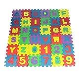 LjQQjDz 36 Stücke Puzzle Matte Kinder Buchstaben Zahlen Puzzle Krabbeln Schaum Bodenmatte Teppich Bildung Spielzeug IQ Test Mind Game Spielzeug Stressabbau Geburtstagsgeschenke Mehrfarbig