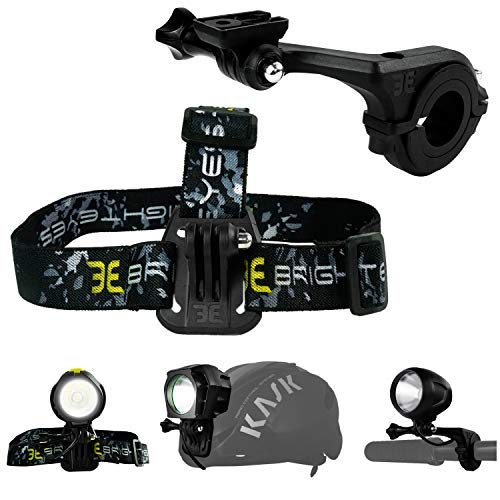 Bright Eyes - Compatible mounts w/GoPro, for 1200 (Blaze),1600 (Helios) & 1800 (Stamina) Lumen Bike Lights. Also Fits All Other Similar Lights (Lights not Included).