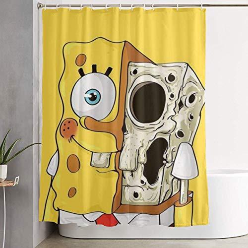 CDMT-XU1 Duschvorhang Schädel Spongebob Kunstdruck, Polyester Stoff Badezimmer Dekorationen Sammlung mit Haken 60X72 Zoll