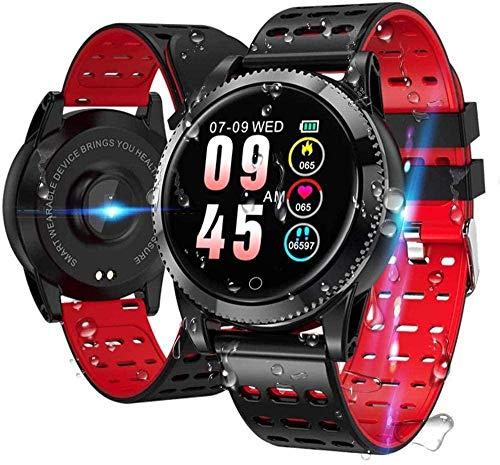 JSL Reloj inteligente resistente al agua con monitor cardíaco y presión arterial 1.3 pantalla táctil completa rastreador de actividad con monitor de sueño-2