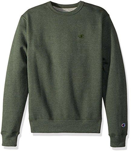 Champion Men's Powerblend Fleece Pullover Sweatshirt, Forest Grove Heather, X Large