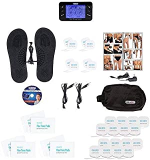 DR-HO'S Pain Therapy System Pro TENS Unit and EMS for Pain Relief and Full Body Pain Management - Deluxe Package (Includes Travel Foot Therapy Pads and More) and 1 Year Warranty