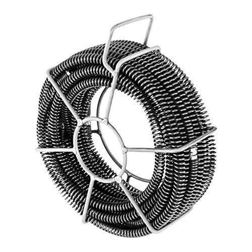 MSW Motor Technics Rohrreinigungsspiralen Set MSW-CABLE SET 1 (6 Spiralenelemente je 2,45 m, Anschluss: Ø 16 mm, Gesamtlänge 14,7 m, Rohrbreite: Ø 30-100 mm)