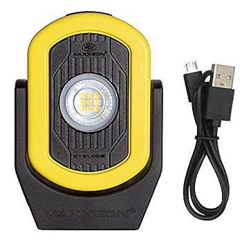 Maxxeon MXN00812 HiVis Yellow Workstar Cyclops USB-C Rechargeable LED Worklight