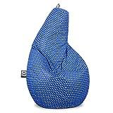 HAPPERS Puff Pera Estampado para Salón o Dormitorio Stars Azul XL