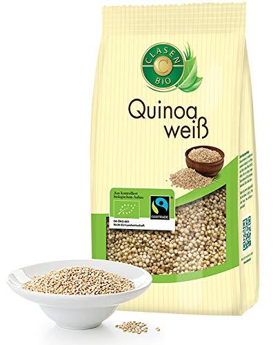 CLASEN BIO Quinoa, weiß - 450g, Fairtrade, von Natur aus vegan und glutenfrei, biologischer Anbau