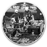 Impresionantes pegatinas de vinilo (juego de 2) 30 cm BW – bomberos en miniatura en la computadora divertidos calcomanías para portátiles, tabletas, equipaje, reserva de chatarras, neveras, regalo fresco #43227