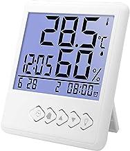 YIN YIN, La Temperatura y medidor de Humedad, termómetro electrónico Digital, de Interior de Alta precisión en seco y la Humedad Instrumento de medición con Luminoso, 98X106X21MM