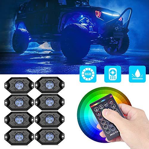 MICTUNING RGB Kit di luce a LED per guida diurna
