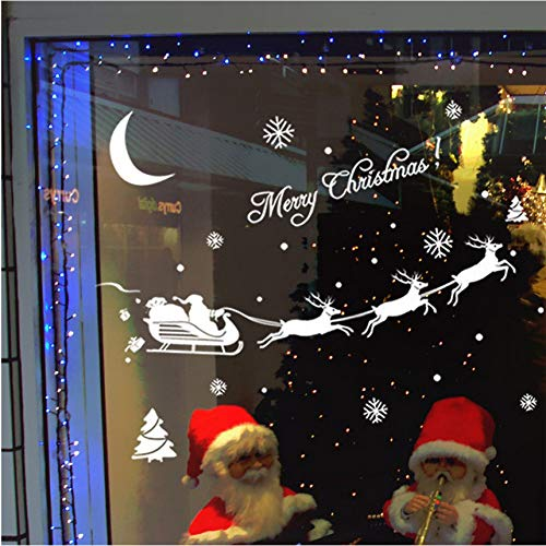 Wuyii papierbehang, zelfklevend, Kerstmis, raamdecoratie, voor thuis, Kerstmis, muursticker, papier, beschilderd, voor woonkamer 2018