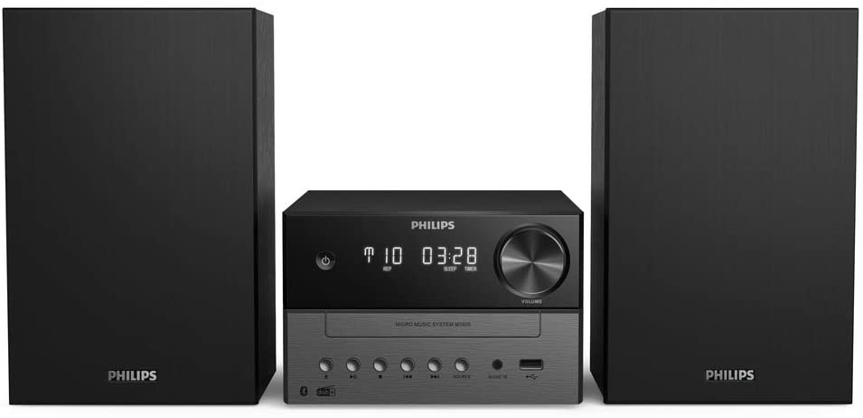 PHILIPS AUDIO M3505/12 Minicadena de Música con CD y USB y Bluetooth (Radio Dab+/FM, MP3-CD, Puerto USB para Carga, 18 W, Altavoces Bass Reflex, Control Digital del Sonido) - Modelo 2020/2021