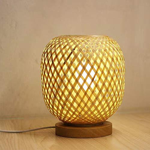 Xyxiaolun Lámpara de Mesa de bambú de Tejido a Mano Dormitorio de la Sala de Estar de la Noche Dormitorio de la Noche de la Noche Decoración de Arte de Madera Dormitorio, Sala de Estar, Sala de es