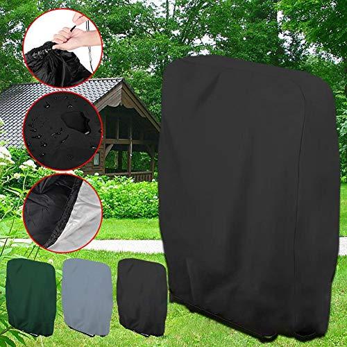 pegtopone - Housse de Chaise Longue de Jardin - Étanche - Anti-UV - Protection Solaire - pour chaises Longues - Chaises Pliantes - pour terrasse - en extérieur - 25 20 cm - 2 cm Noir