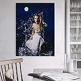 JLFDHR Tableau Mural 40x60cm sans Cadre Chanteuse Céline Dion Poster Play in The Water