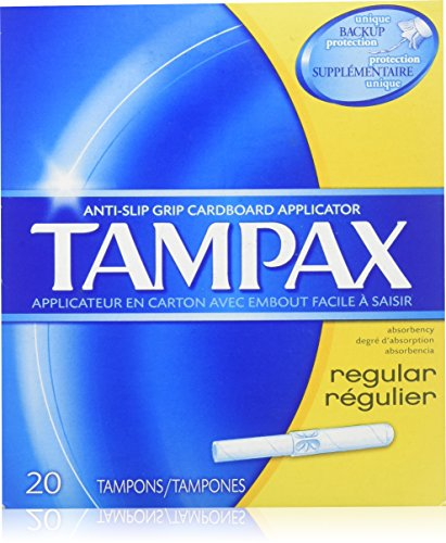 Tampax Regular Absorbency Tampons with Flushable Applicator 20 ct by Tampax
