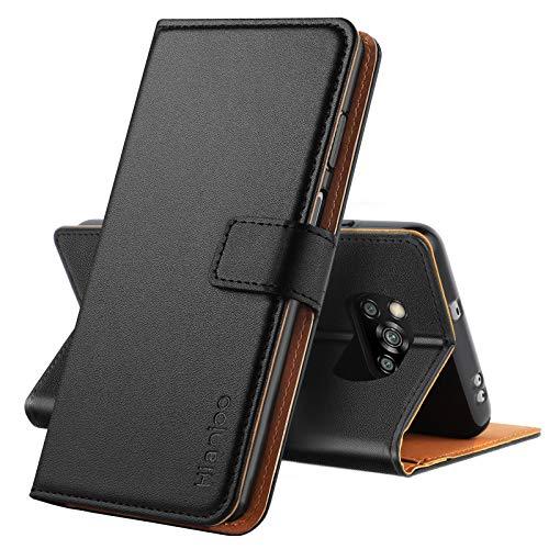 Hianjoo Hülle Kompatibel für Xiaomi Poco X3 NFC, Tasche Leder Flip Hülle Brieftasche Etui mit Kartenfach & Ständer Kompatibel für Xiaomi Poco X3 NFC, Schwarz