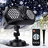 Christmas LED Projector Lights, Owl Shape Outdoor Snowflake Projector...