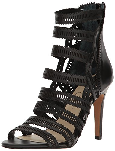Jessica Simpson Women's Elisbette Heeled Sandal, Black, 10 Medium US