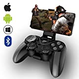Mobile Game Controller,ZUOXI Wireless 4.0 Bluetooth Gamepad with Joystick, Multimedia Game Controller Compatible with iOS Android Mobile Phone PC Android TV Box Without Rooting (Grey)