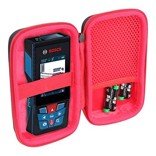 Khanka Hart Tasche Schutzhülle für Bosch Professional Laser Entfernungsmesser GLM 40 Lasermessgeräte. (Für GLM400C-schwarz)