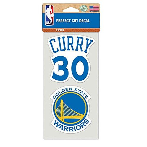 Golden State Warriors - Set di adesivi originali NBA Stephen Curry, 10 x 10 cm