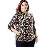 Jessica London Women's Plus Size Zip Front Leather Jacket - 12 W, Leopard from Jessica London