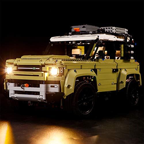 Yavso Kit de Luces para Lego Technic Land Rover Defender 42110, Kit de Iluminación Led Luz Compatible Lego 42110 Modelo, Juego de Legos no Incluido - Versión básica