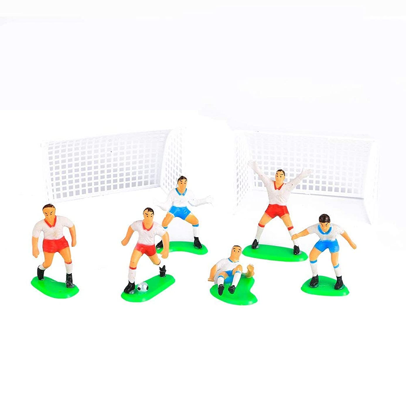 Mould - 8 Pcs Soccer Player Birthday Cake Decoration Football Team Scene - Topper 5 Cake Doll Soccer Cake Soccer Party Goal Decor Candle 20th Spiderman Party Cake Soccer Gold Mold Mould Ring