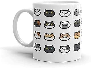Neko Atsume. 11 Oz Mugs Makes The Perfect Gift For Everyone. 11 Oz Fine Ceramic Mug With Flawless Glaze Finish