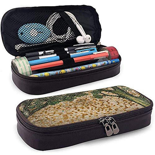 Mosaic Tree PU Leather Pen Pen Bag 20 * 9 * 4 cm (8X3.5X1.5 Inches) Pouch Case Holder College Coin Purse Cosmetic Bag